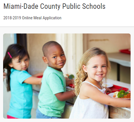 MDCPS Online Meal Application Image