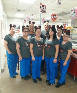 First week of school cafeteria staff